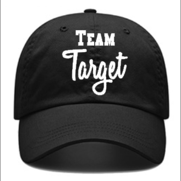 18e442718 Team Target Black Baseball Hat 🎯 Boutique